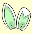 green bunny ears vector image vector image
