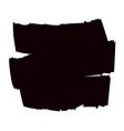 Brush grunge background black vector image vector image