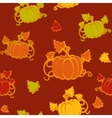 Autumn seamless pattern with pumpkin vector image