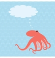 card with octopus and place for text vector image