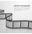 cinema movie background with retro film vector image