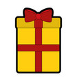 gift box cartoon vector image