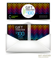 Gift voucher design template vector image