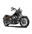 Motorcycle engraved vector image