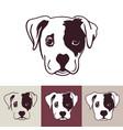 puppy dog head vector image