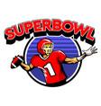 quarterback badge vector image