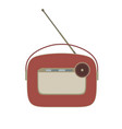 radio vintage retro old music icon speaker sound vector image