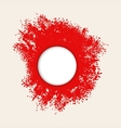 Red splashes of paint vector image