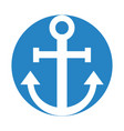 sail anchor isolated icon vector image
