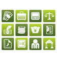 Flat Bank business and finance icons vector image vector image