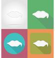 speech bubbles flat icons 16 vector image