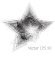 scratchy five point star vector image