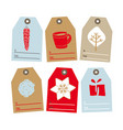 set of tags for gifts for christmas vector image