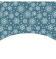 snow decorative background vector image vector image