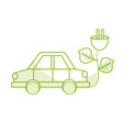 silhouette car transportation with power cable and vector image vector image