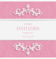 Pink Floral 3d Christmas and Invitation vector image vector image