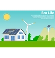 Preserving the environment and using renewable vector image