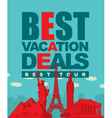 best tour vector image vector image