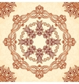 Vintage mandala seamless pattern in Indian mehndi vector image vector image