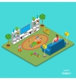Happy family isometric flat concept vector image