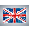 Grunge UK national flag vector image