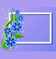 background with beautiful paper-cut flowers vector image