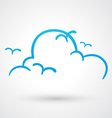 Blue sky icon vector image