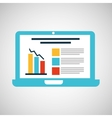 cartoon laptop statistic information design vector image