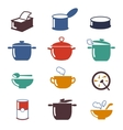 Color soup icons vector image