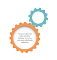 Flat gears background vector image