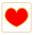 Golden Heart icon vector image