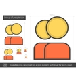 Group of people line icon vector image