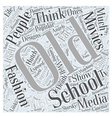 Old school fashion Word Cloud Concept vector image