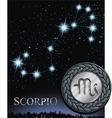 scorpio zodiac sign scorpion logo vector image