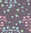 Trendy seamless pattern with cute hearts vector image