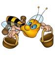 Flying Little Bee vector image
