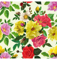 seamless pattern bouquet of flowers vector image vector image