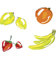 - set of fruits vector image vector image