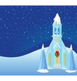 winter christmas scene vector image