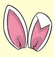 Pink bunny ears vector image