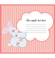 Valentine Greeting Card With Rabbit vector image