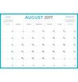 Calendar Planner for 2017 Year Design Template vector image
