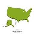 Isometric map of United States detailed vector image