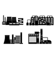 factory silhouette set vector image