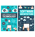 infographic design of information technology vector image