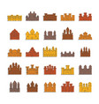 medieval castles icons set doodle style vector image