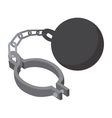 Prison ball and chain cartoon icon vector image