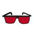 red glasses accessory fashion element design vector image