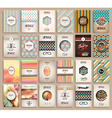 Vintage Styles brochure templates set with Labels vector image