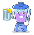 with juice blender character cartoon style vector image